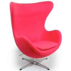 Funky Chairs for Teens | Funky Pink Chairs for Teen Girls: Kardiel Egg Chair, 360 Degree Swivel ...