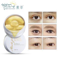 LOGO Ouro PURO Aquagel Ageless Olho Máscara de Colágeno Olho Máscara de Dormir manchas Olheiras Cuidados Com o Rosto Máscara Para o Rosto Cuidados Com A Pele Branqueamento