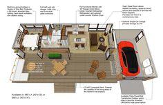 Modern Style House Plan - 1 Beds 1 Baths 480 Sq/Ft Plan #484-4 Floor Plan - Main Floor Plan - Houseplans.com