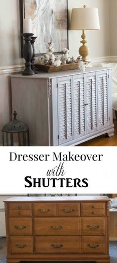 Dresser Makeover with Shutters - Savvy Apron