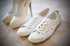 Comfy shoes are a must. | 24 Important Lessons You Learn On Your Wedding Day