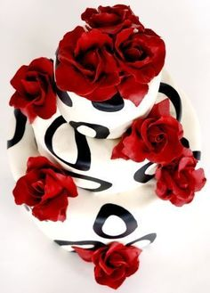 red wedding cakes (Best Wedding and Engagement Rings at http://www.brilliance.com)
