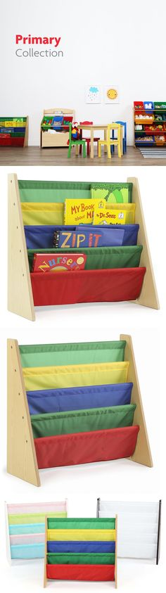 bookcases 115749 tot tutors kids book rack storage bookshelf natural primary primary collection - Tot Tutors Book Rack Primary Colors