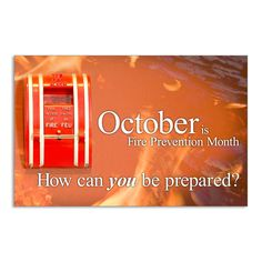 Fire Prevention Month - Jumbo Postcards