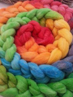 trança arco-iris em lã merino