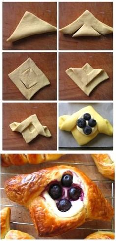 41 ideas for fruit cake loaf cream cheeses Sweet Pastries, Bread And Pastries, Danish Pastries, Fruit Cake Loaf, Pastry Design, Bread Shaping, Puff Pastry Recipes, Savory Pastry, Choux Pastry