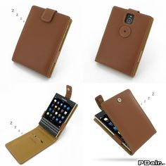 watch ea186 a7d75 PDair Deluxe Leather Case for BlackBerry Passport - Flip Top Type ...
