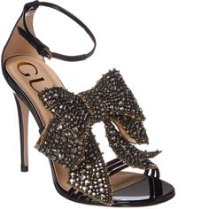 7d6beffd42e http   shoerazzi.com gucci-crystal-embellished-bow- · Black High Heel  SandalsAnkle ...