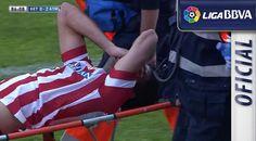 Diego Costa injury. Getafe vs. Atlético. Match 33 La Liga.