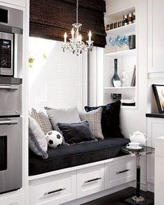 kitchen window seat.  candice olsen