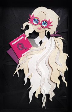 Luna Lovegood Spectrespecs Harry Potter Paper Cut by animcphee