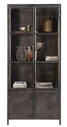 Stoere industriële meubelen en accessoires. De trend van nu! Tall Cabinet Storage, Locker Storage, Living Room Sets, Unique Furniture, Toilet, Interior Decorating, New Homes, Beaver Creek, Credenza