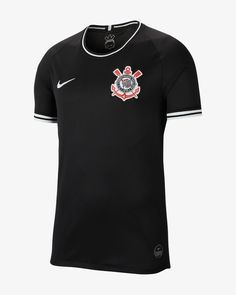 Camisa Nike Corinthians Treino 2019 Vermelha Xadrez
