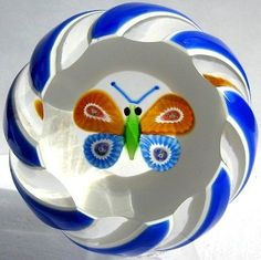 Briefbeschwerer / Paperweight PERTHSHIRE Annual Collection 1976B Schmetterling