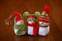 Ravelry: Snowman Ornaments pattern by Mary Maxim