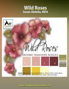 Art Apprentice Online Store - Acrylic - E-Painting Pattern - Wild Roses For The Beginner by Susan Abdella, MDA, $5.95 (http://store.artapprenticeonline.com/acrylic-e-painting-pattern-wild-roses-for-the-beginner-by-susan-abdella-mda/)