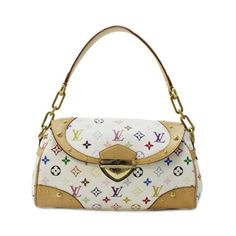 3a6cd03dafc6 Louis Vuitton Beverly MM Monogram Multicolore Shoulder bags White Canvas  M40203