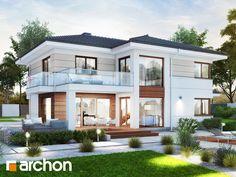 2 Storey House Design, Duplex House Design, House Front Design, Cool House Designs, Modern House Design, Model House Plan, My House Plans, Craftsman House Plans, House Paint Exterior