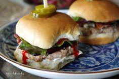 Buffalo, Bacon and Blue Cheese Turkey Sliders