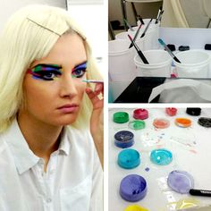 Backstage Beauty Report: Chanel Gets All Artsy: Daily Beauty Reporter :  For Chanel shows past, Karl Lagerfeld has transformed Paris's Grand Palais into an underwater universe, a cave of crystals, and a pasture of wind turbines, but this season he used the building as it was originally intended—for an art...