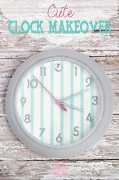 scrapbook paper clock re-do