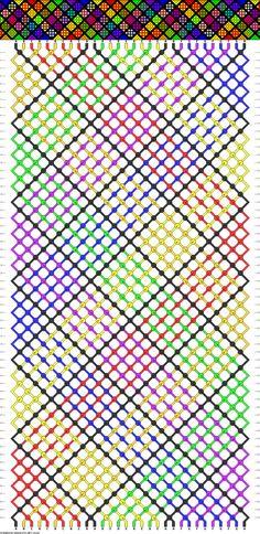 30 strings, 60 rows, 7 colors, bracelet
