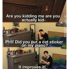 Phil Lester and Daniel Howell ❤ liked on Polyvore featuring dan and phil, youtubers, people, quotes, random, text, phrase and saying