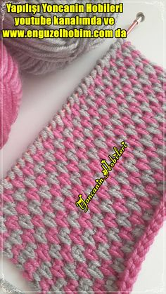 Tunisian Crochet Stitches, Knitting Stitches, Hand Knitting, Crochet Coaster Pattern, Knitted Baby Clothes, Knitted Slippers, Sweater Design, Baby Knitting Patterns, Sewing Tutorials
