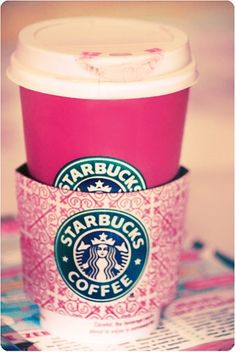 How come I've never seen a pink Starbucks cup? I would keep it and treasure it forever and ever... ;)
