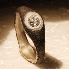 Pilgiò - Antonio Piluso, Inclusioni collection, ring, gold, iron, diamond