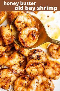 Buttered Shrimp Recipe, Cooked Shrimp Recipes, Best Shrimp Recipes, Shrimp Recipes For Dinner, Honey Recipes, Seafood Dinner, Fish Recipes, Simple Shrimp Recipes, Best Grilled Shrimp Recipe