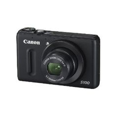 Canon PowerShot S100 12.1 MP Digital Camera with 5x Wide Angle Optical Image Stabilized Zoom (Black)  by Canon  3.8 out of 5 stars  See all reviews (77 customer reviews) | Like (272)  List Price:	$429.00  Price:	$422.00