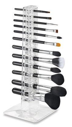 Acrylic Cosmetics 12 Makeup Beauty Brush Stand Organizer - GoGetGlam