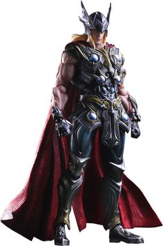 Square Enix Marvel Universe: Variant Play Arts Kai Thor Action Figure by Diamond Comic Distributors. Square Enix Marvel Universe: Variant Play Arts Kai Thor Action Figure by Diamond Comic Distributors . Hq Marvel, Marvel Comic Universe, Comics Universe, Thor Series, Gladiator Hulk, Diamond Comics, Midtown Comics, The Mighty Thor, Comic Book Heroes