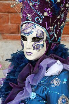 Cirque Du-So-Leil. blue and purple