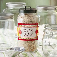 No more Rice-A-Roni ... Savory Rice Mix Recipe... great gift Idea in a fancy Mason Jar... would be so cute !