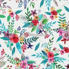 2k100  Seamless Floral Patterns @patternbank #floral #meadow #trend #prints 3patterns #fashion #design #moda #fabric #london #NYFW
