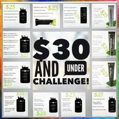 Did you know ItWorks! has TWELVE natural products that are under 30 a month?! Time for the 90 day challenge I have 3 spots open for the $30 and under challenge Confianza (Anti-Stress Focus) $25 FatFighters (cuts carbs white pants approved!) $23 Energy Drink (heathy alternative packed with Vitamin B) 12 Pack for $29 Relief (joint pain) $29 Green Chews (blood pressure antioxidants) $30 It's Vital Core Nutrition (gluten free multivitamin!) $29 It's Vital Omegas $23 Lip & Eye Cream (b...