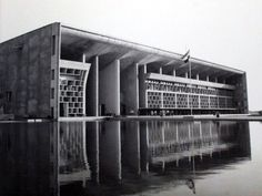 Le Corbusier, Palace of Justice. Chandigarh, India. 1952.