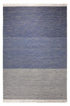 Tapis contemporain CASUAL bleu