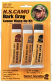 3 colors: mud brown bark gray flat black. Blistered. 3 one ounce tubes. Constructed from the highest quality materials.