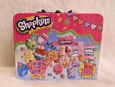 Shopkins Lot Fitted Sheet Twin Size Pink White Very Soft & Metal Lunch Box Toy #Twin #Novelty