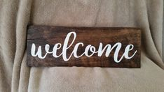 Welcome Wall Art, Welcome Art, Wood Sign