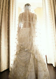 Pin for Later: This Bride Embroidered Her Entire Love Story Onto Her Wedding Gown