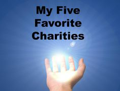 Books, Bargains, Blessings: Five Favorites: My Favorite Charities