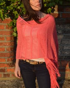 This lovely shawl is an ideal way to get ready for autumn or snuggle up on a cool summer's night. It's bound to give your outfit a unique and special touch. I so want this !!!! <3 https://www.etsy.com/uk/listing/108408711/on-sale-handwoven-coral-shawl-wrap-stole?ref=shop_home_active