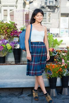 Doesn't need to be chilly to wear tartan. Here's artsy proof positive: Faces of San Francisco: Street Style #tartan #plaid