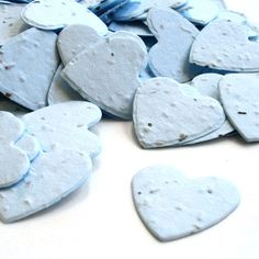 Blue Heart Shaped Plantable Confetti from Daisy Giggles