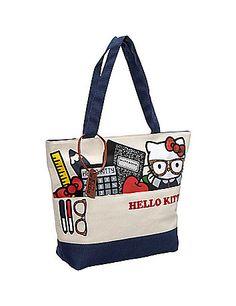 I'm a nerd too!  Hello Kitty Nerds Stuff Tote sonsi.com