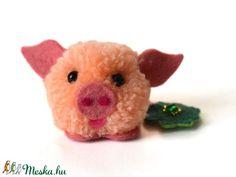 Szerencsehozó kismalac (Illanilam) - Meska.hu Happy New Year, Teddy Bear, Toys, Animals, Pork, Crafts, Crafting, Activity Toys, Animales